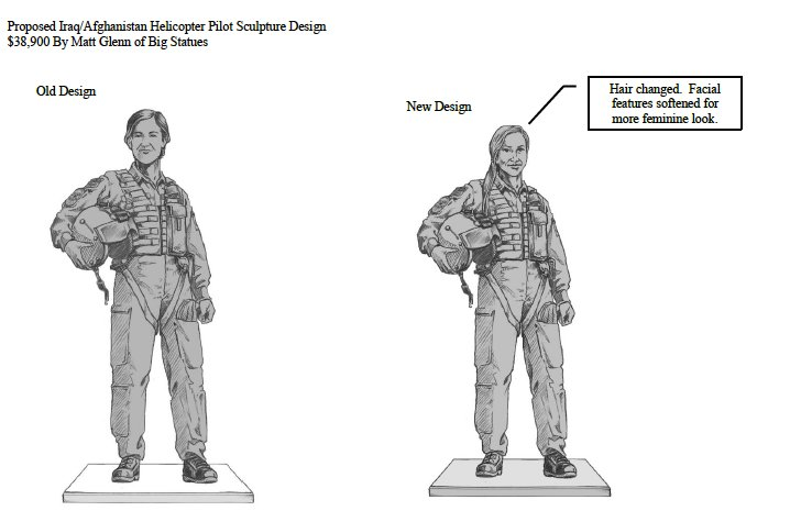 A depiction of the memorial to veterans of modern conflicts in Iraq and Afghanistan  planned for Veterans Memorial Park in Cedar Park.