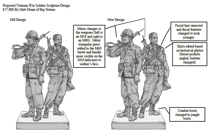 A depiction of the memorial to Vietnam-era veterans planned for Veterans Memorial Park in Cedar Park.