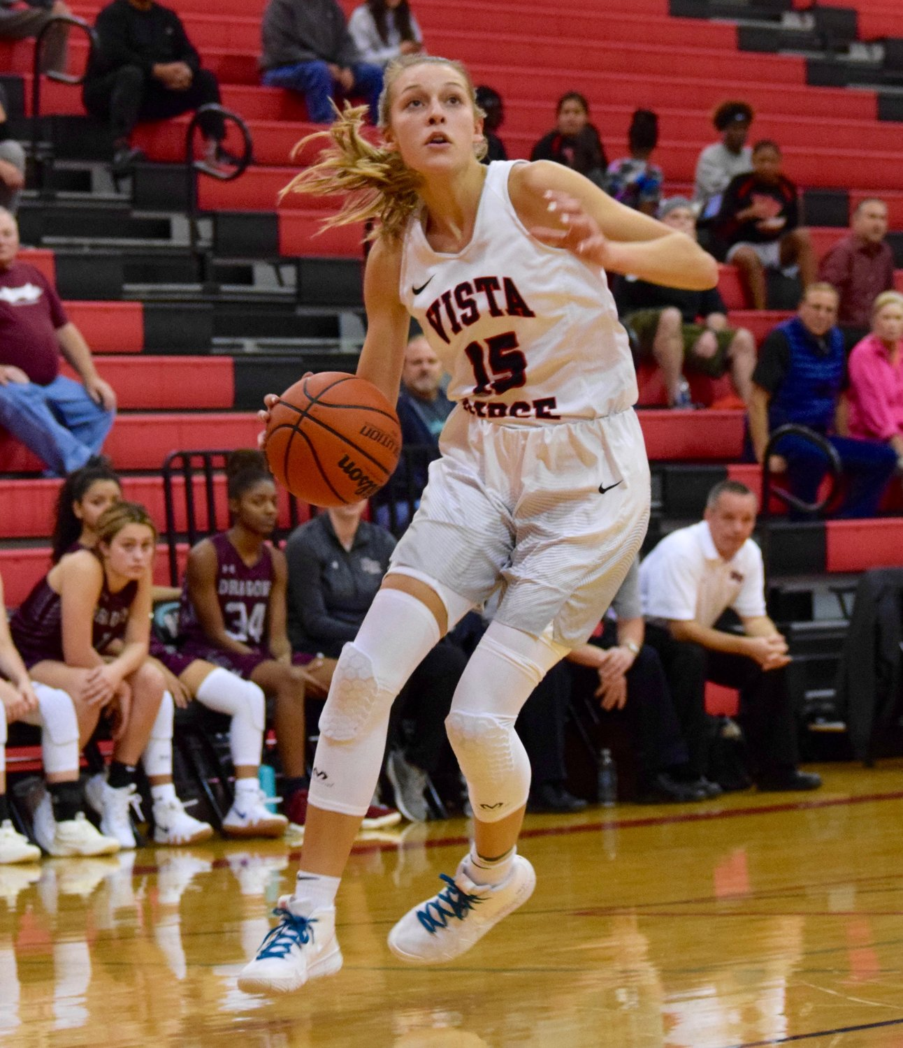 A.J. Marotte scored a team-high 23 points and Vista Ridge beat Round Rock 69-46 in the first district game of the season for the Lady Rangers Tuesday night at home.