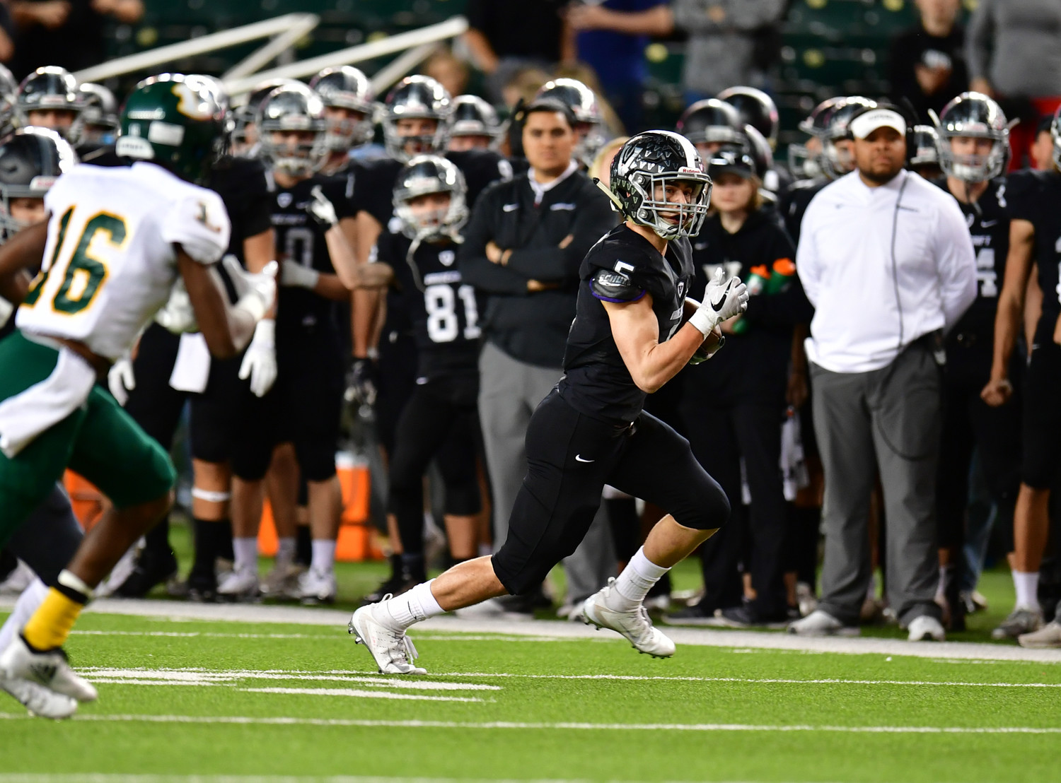 Brendan Bennett and Vandegrift fell to Longview 56-28 in the regional semifinals Saturday at McLane Stadium in Waco.