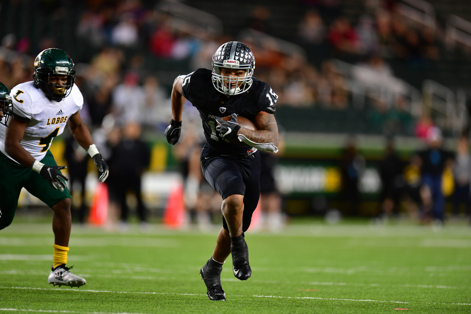 Isaiah Smallwood ran for three touchdowns, but Vandegrift fell to Longview 56-28 in the regional semifinals Saturday at McLane Stadium in Waco.
