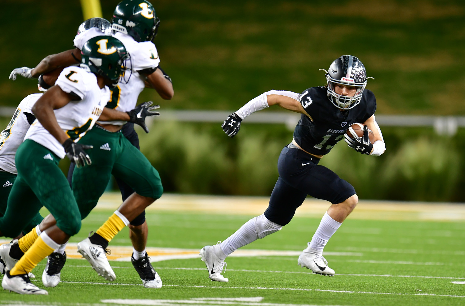 Trey Mongauzy and Vandegrift fell to Longview 56-28 in the regional semifinals Saturday at McLane Stadium in Waco.