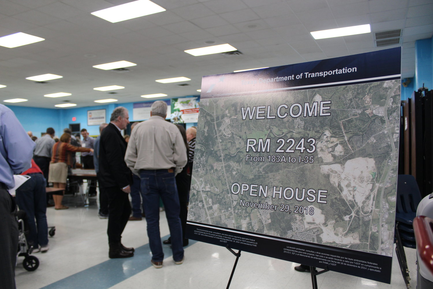 More than 100 residents attended a TxDOT open house on future plans for RM 2243 on Nov. 29.