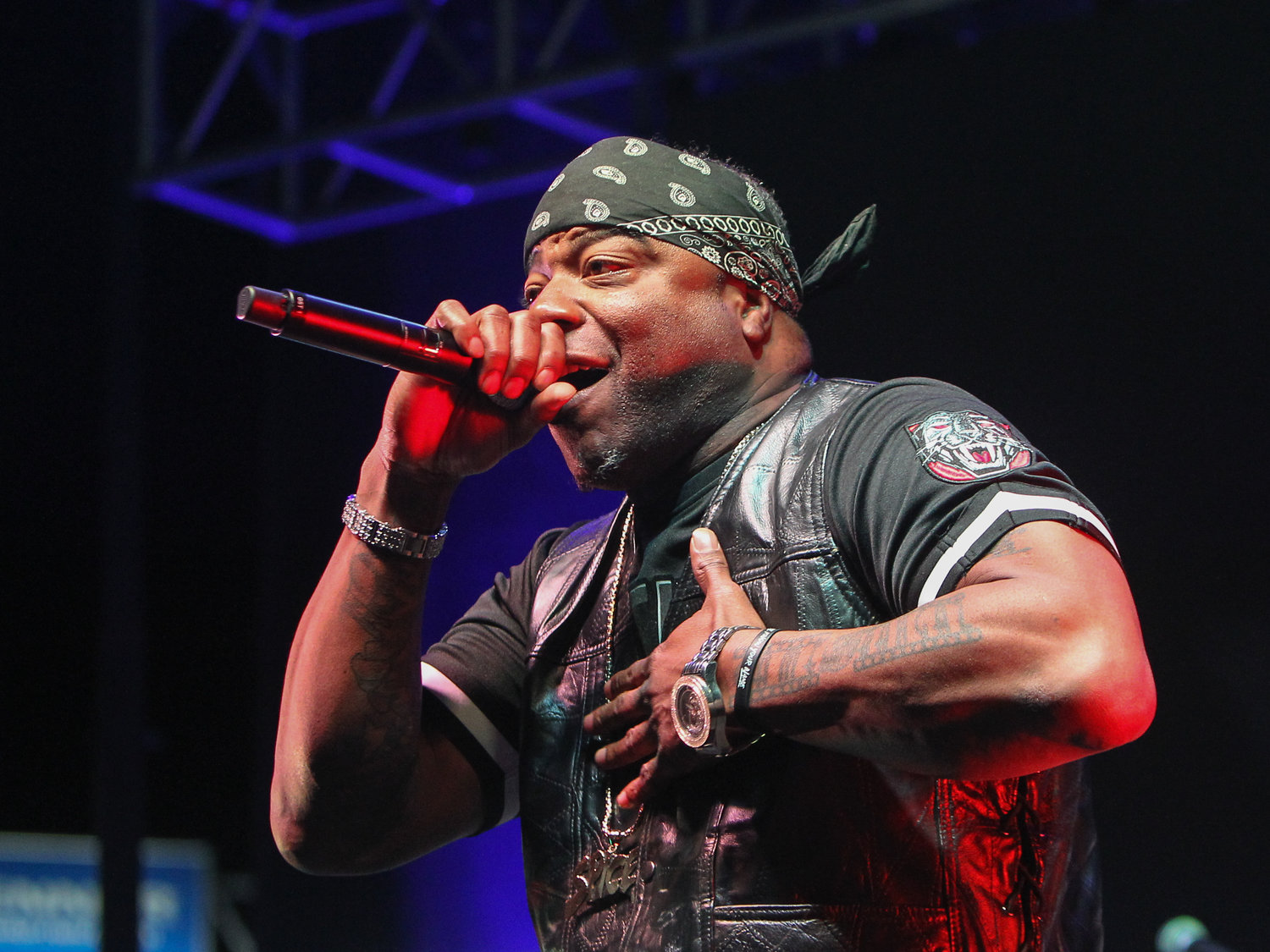 Spice 1 performs on the Puff Puff Pass tour on Sunday, Dec. 2, 2018 in Round Rock, TX.