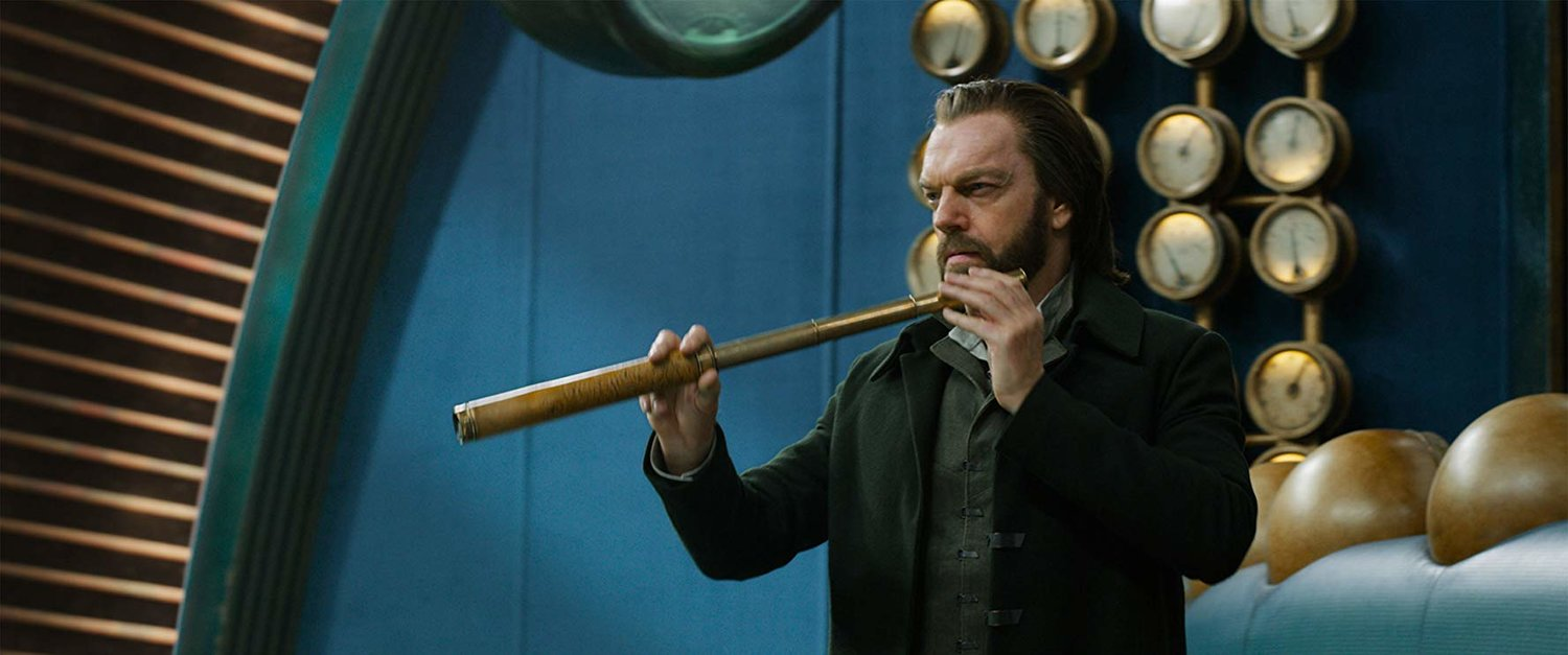 "Hugo Weaving stars in Peter Jackson's new epic-scale sci-fantasy film, ""Mortal Engines."""