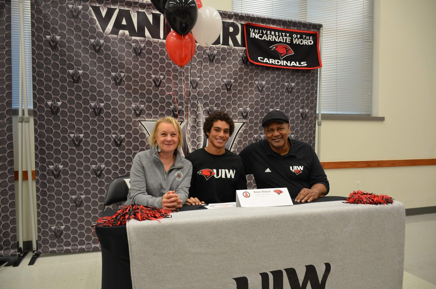 Vandegrift senior Reece Watson signed to play football at Incarnate Word during early signing day on Wednesday.