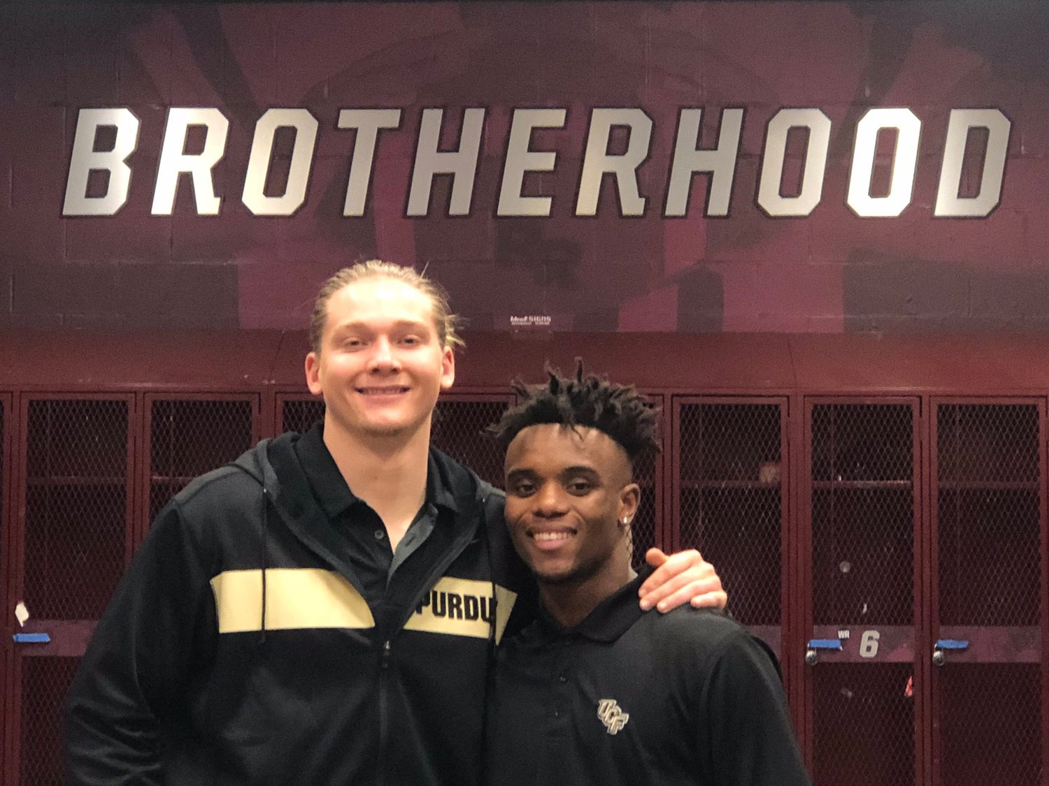 Round Rock tight end Garrett Miller, left, signed a letter of intent to play football at Purdue. Ryan O'Keefe, right, was named the District 13-6A and will play football at Central Florida next season.