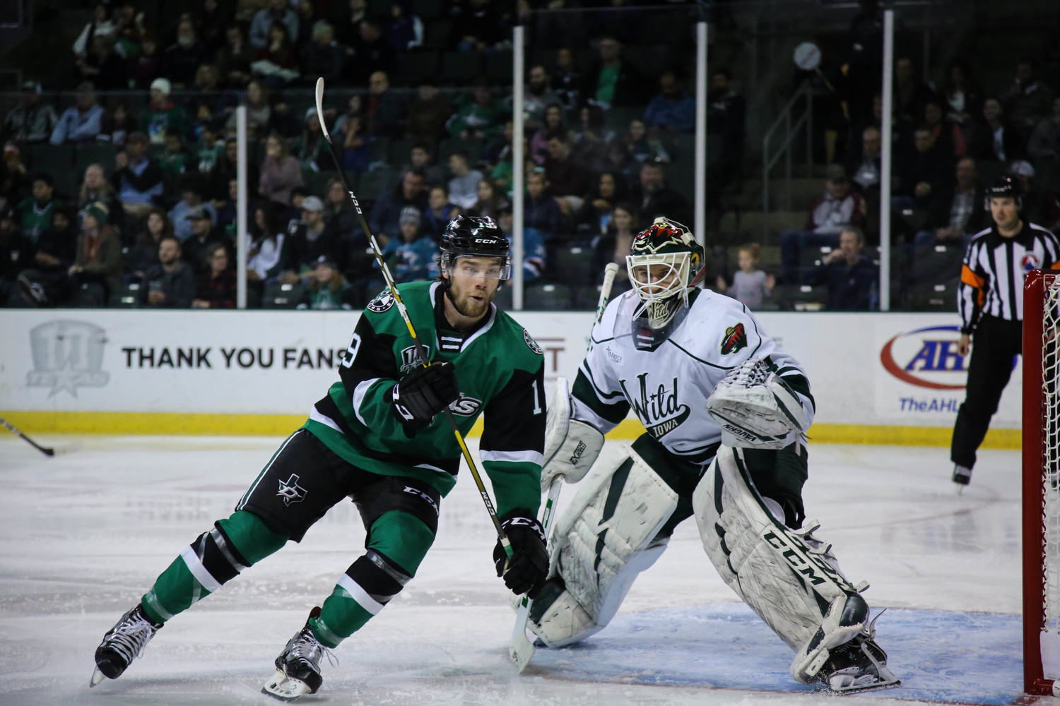 Brad McClure and the Texas Stars beat the Iowa Wild 4-3 at home on Saturday night