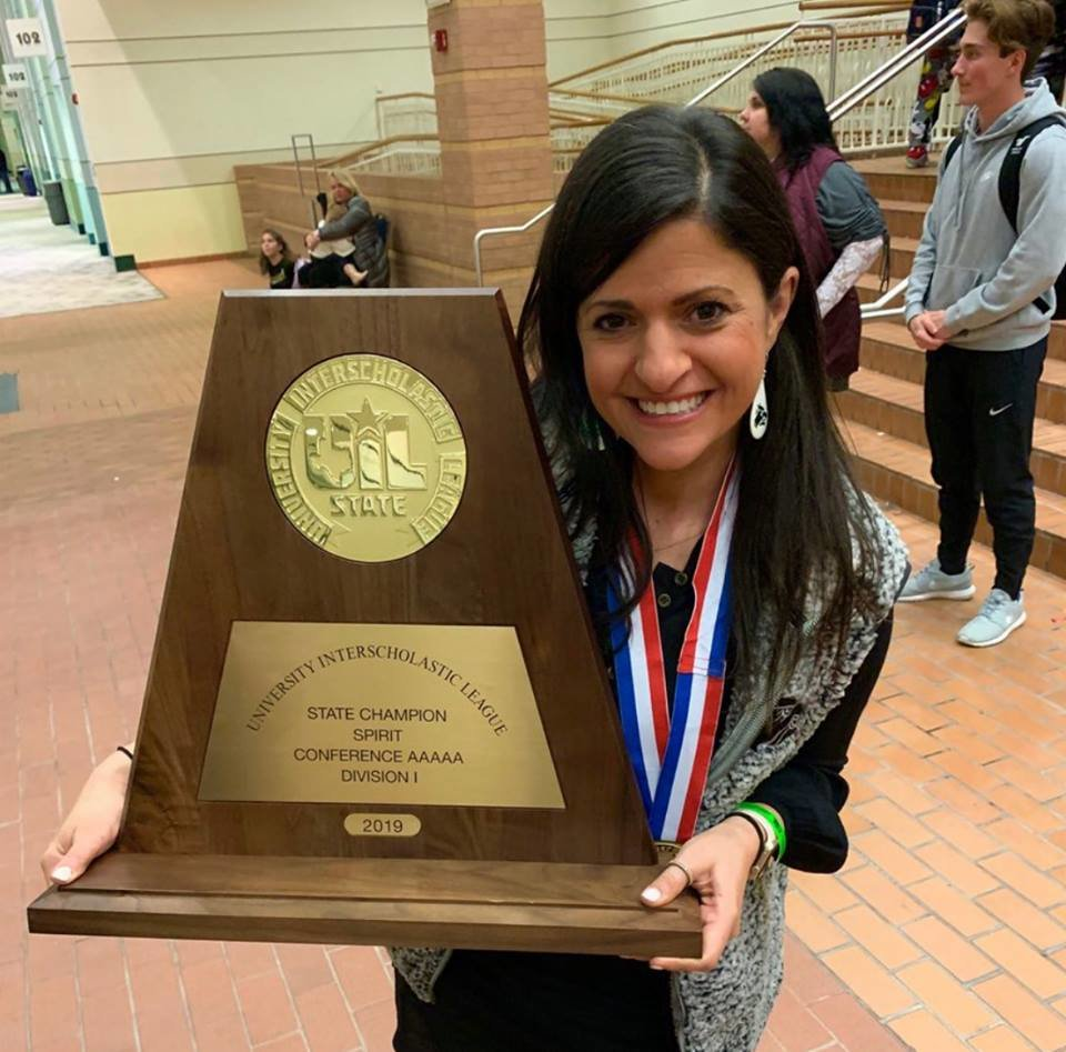 Cedar Park cheer coach Nadira King was recently named the 2017-2018 Texas Coach of the Year for Girls Spirit by the National Federation of High School Coaches.