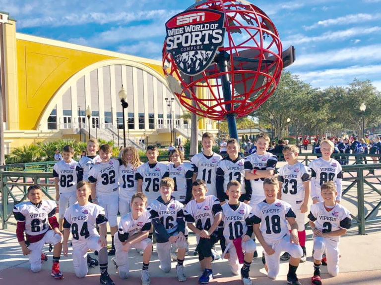 The Four Points Pop Warner Viper football team earned a Southwest Regional Championship title and competed at the national championships in Orlando, Florida last month.