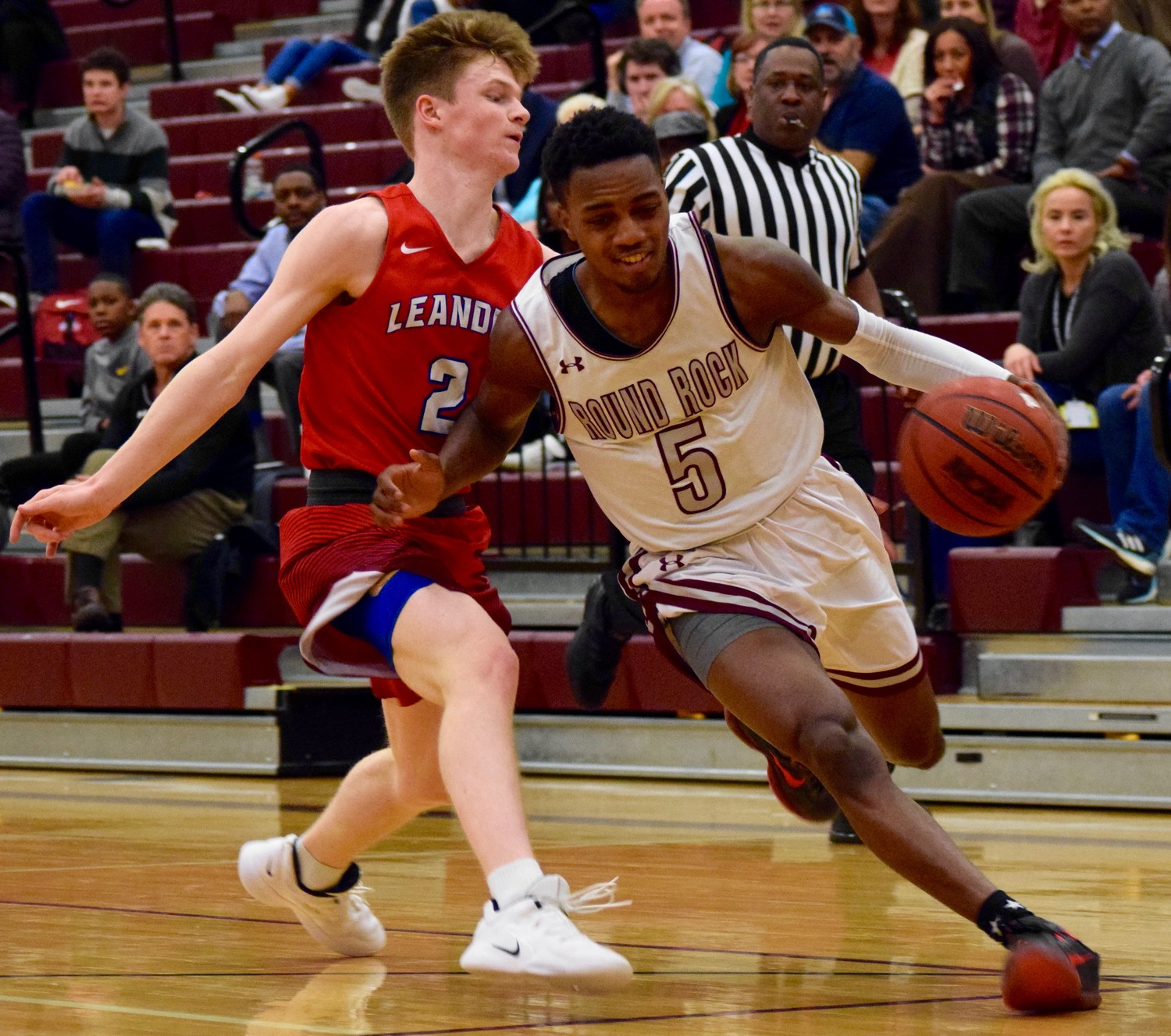 Ryan Ward and Round Rock lost to Leander 45-38 on Tuesday night Round Rock High School.