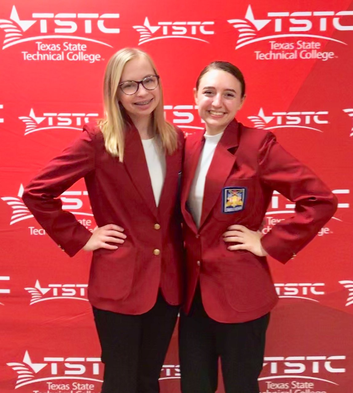 Faith Murphy and Emma Phillips were selected from a group of 25 applicants to serve as SkillsUSA District officers.