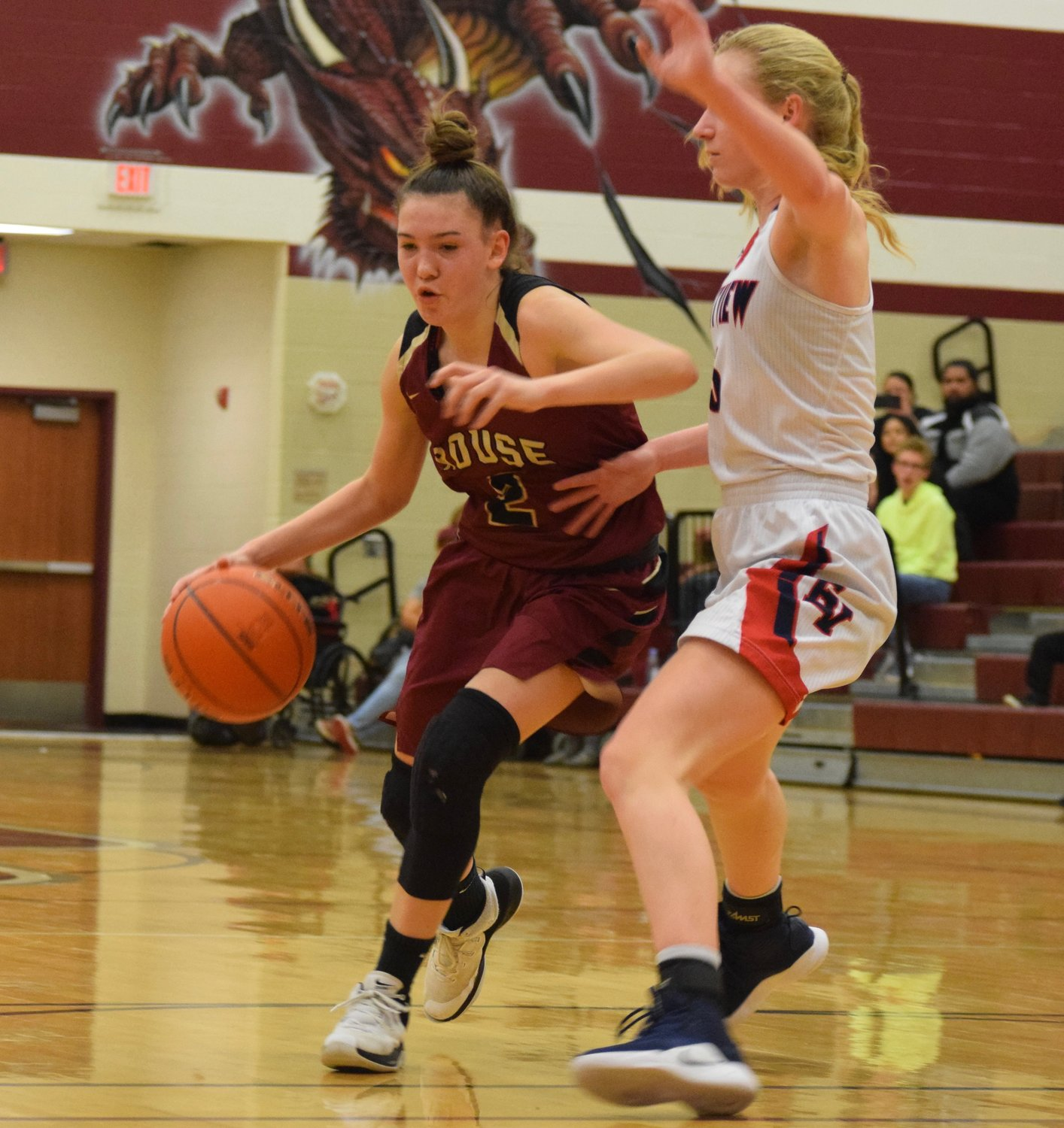 Cailyn Kieper and Rouse lost to East View 35-30 in the first round of the playoffs Monday night at Round Rock High School.