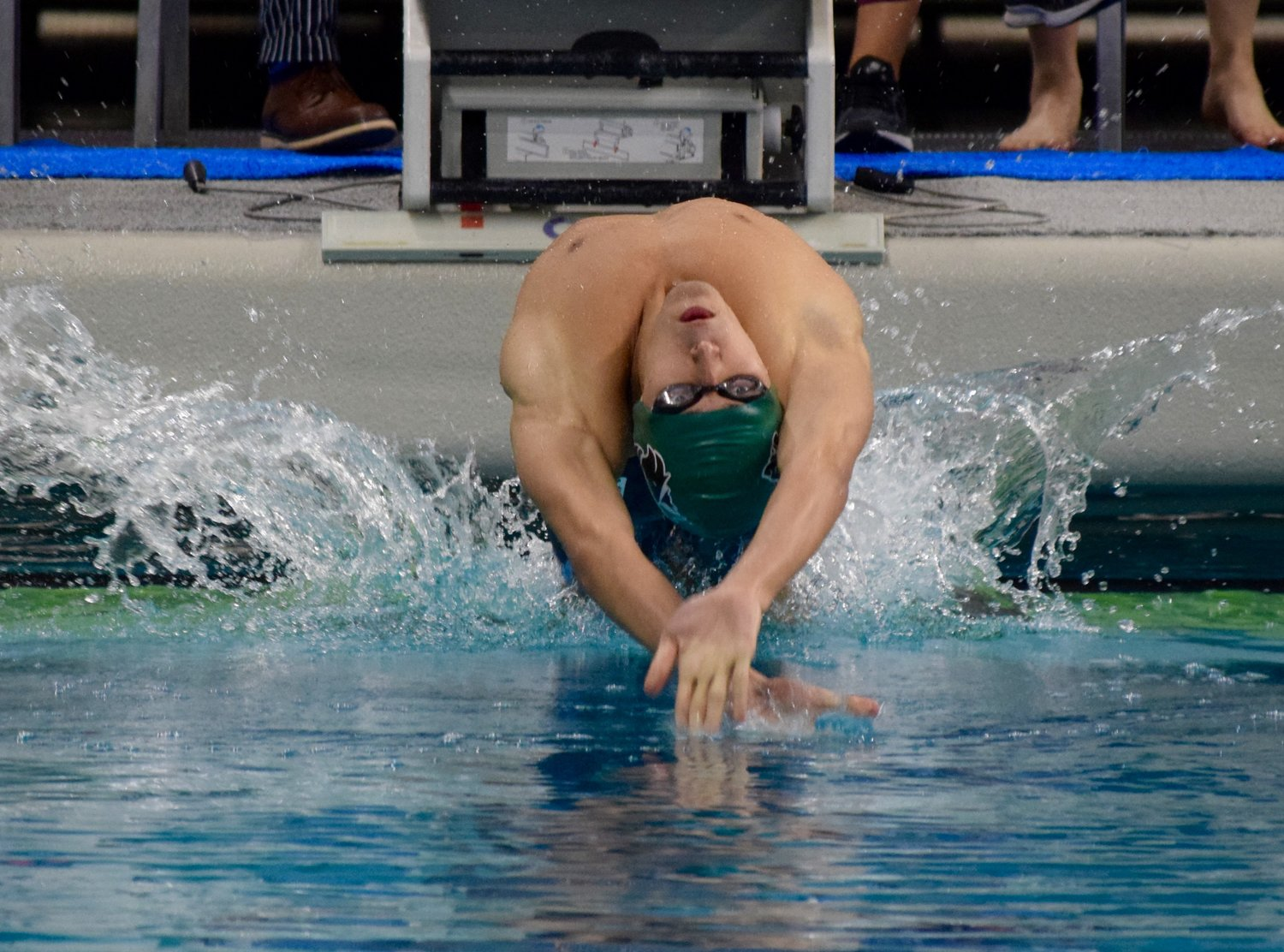 Cedar Park senior Dominic Toledo Sanchez finished fifth in the 50-yard freestyle and the 100-yard backstroke Saturday at the UIL State Swimming and Diving Championships.