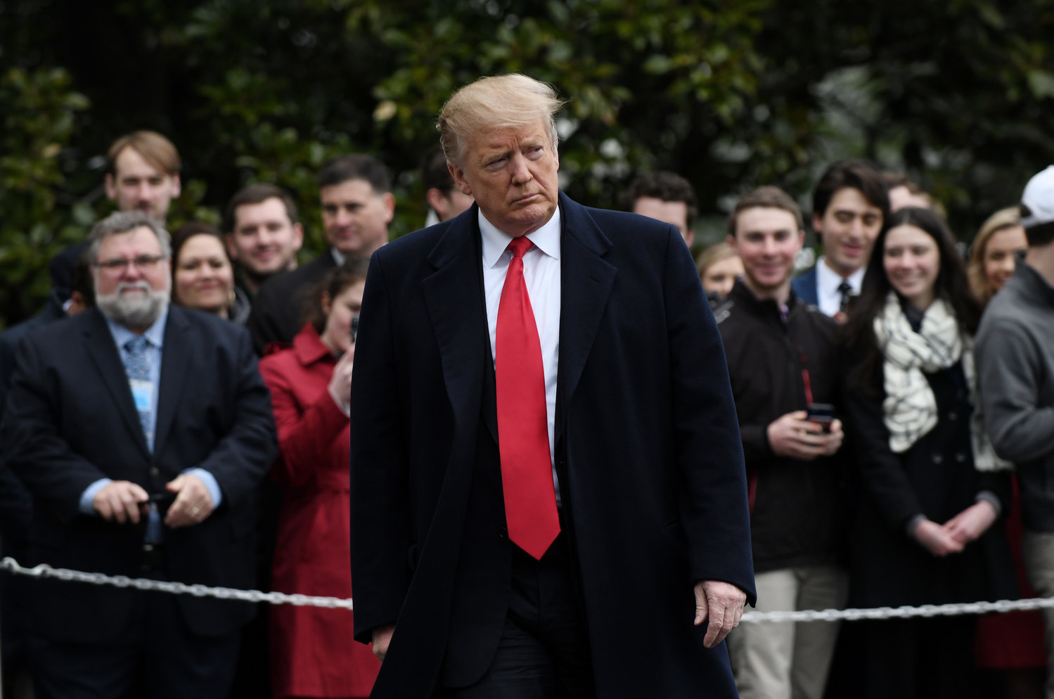 U.S. President Donald Trump departs the White House en route to Florida, on Friday, March 22, 2019 in Washington, D.C.