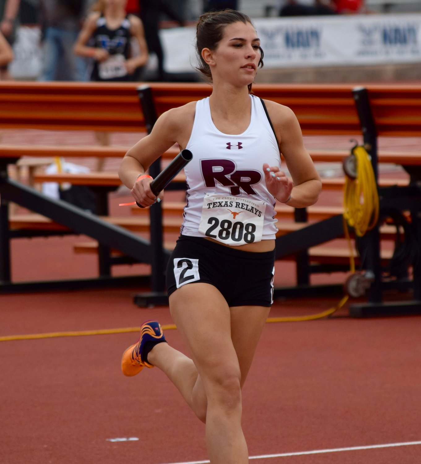 Riley Beard and the Round Rock girls' 4x800-meter relay team of Lauren Willson, Megan Nevlud and Amirah Creighton set a new school record with a time of 9:36.89, winning the event at the Texas Relays on Saturday.