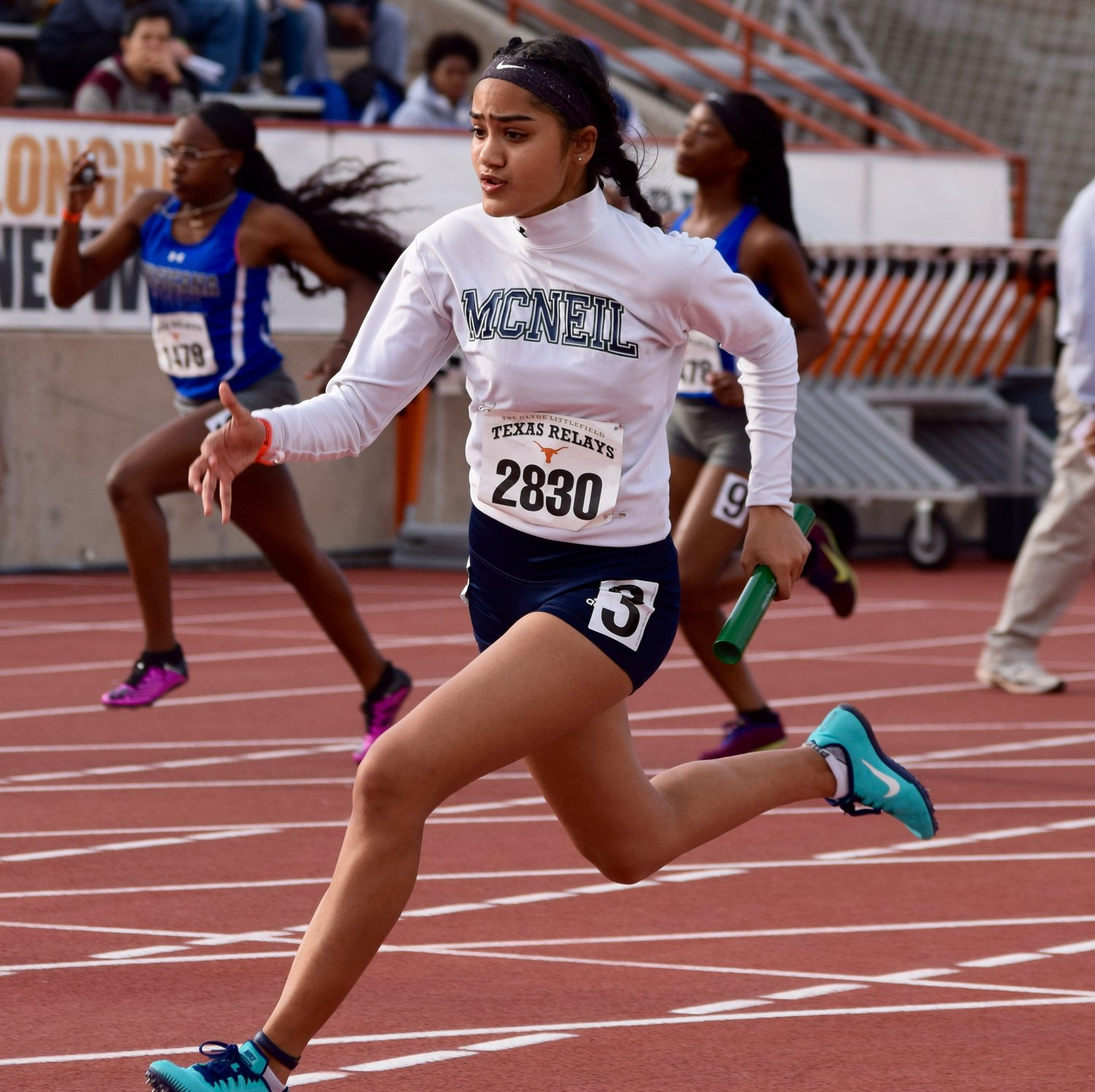 Tripti Tiwari and the McNeil girls' relay team competed at the Texas Relays on Saturday at the University of Texas.