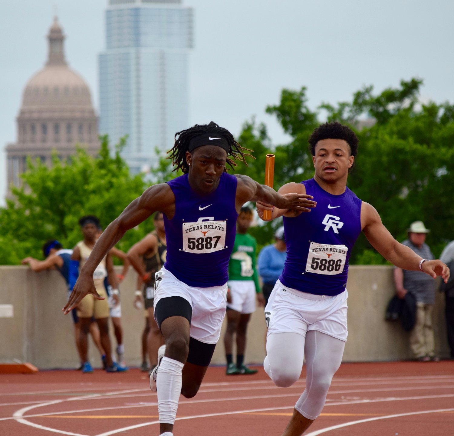 Cedar Ridge athletes compete at the Texas Relays Saturday at the University of Texas.