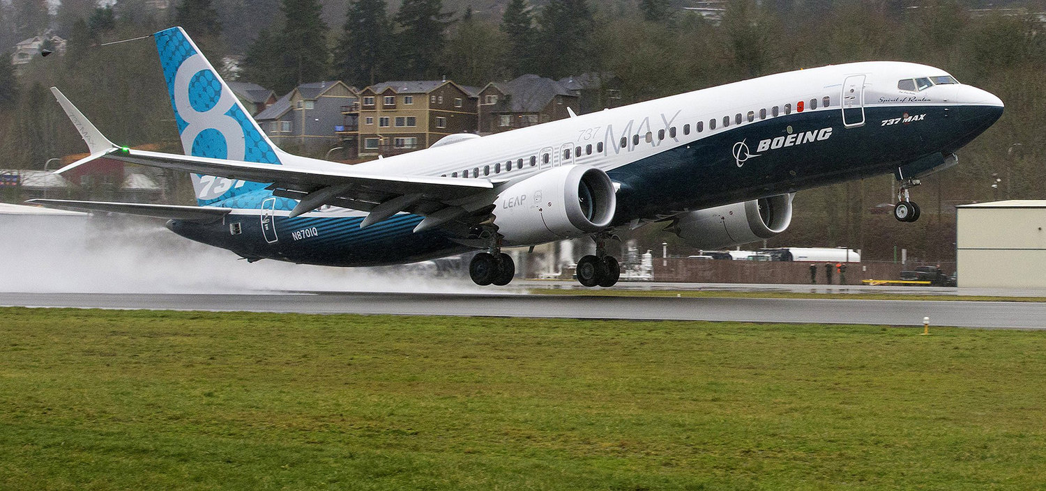 Boeing's first 737 MAX, the Spirit of Renton, takes off for its first flight on January 29, 2016. Since then, two high-profile crashes have put Boeing and the 737 MAX in the midst of global controversy.