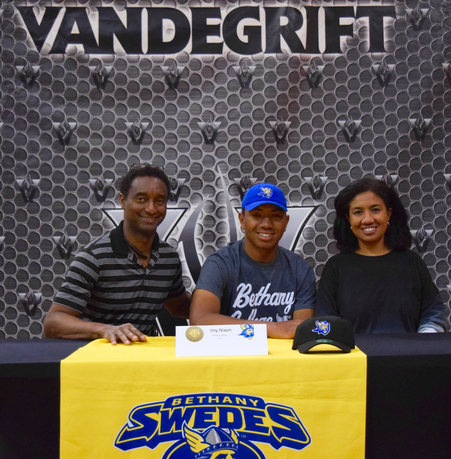 Imy Nixon signed on to play golf at Bethany College at a signing day celebration Friday morning at Vandegrift High School.