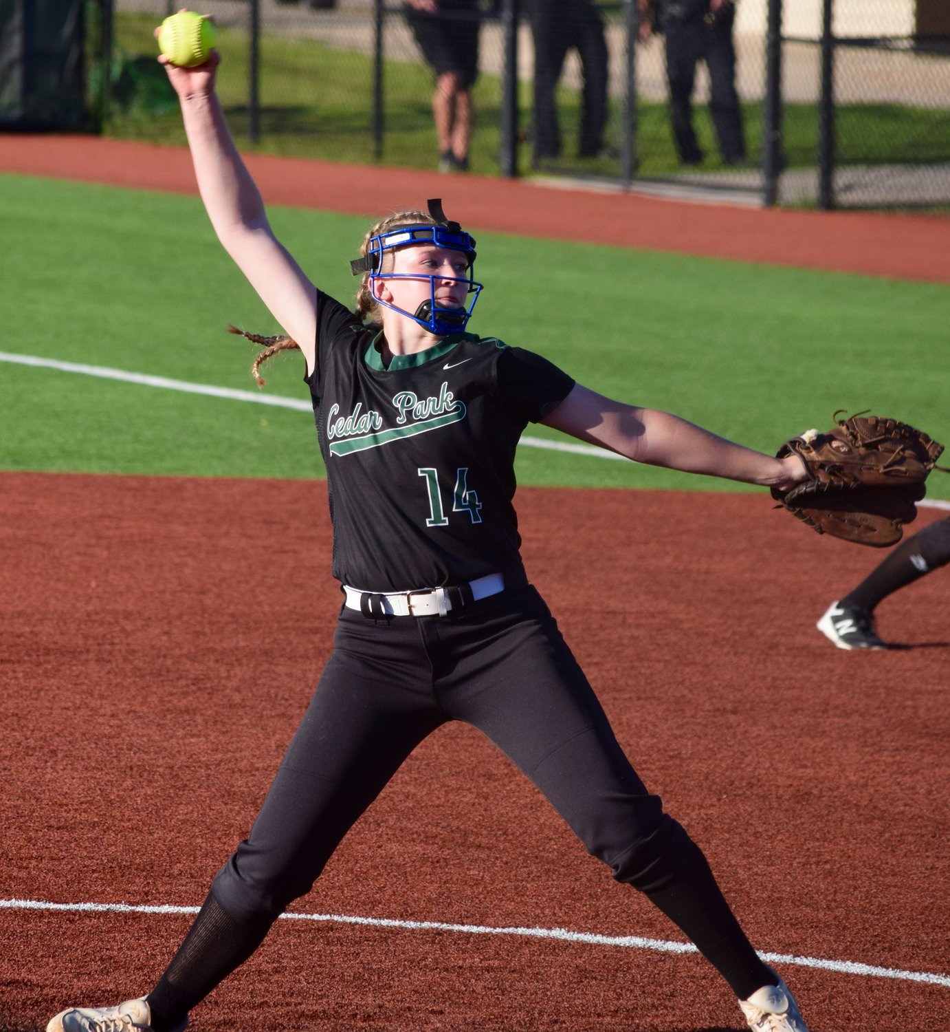 Madyn Singleton had two strikeouts, but Cedar Park lost to East View 4-3 in extra innings on Friday to bring the Lady Timberwolves' season to an end.