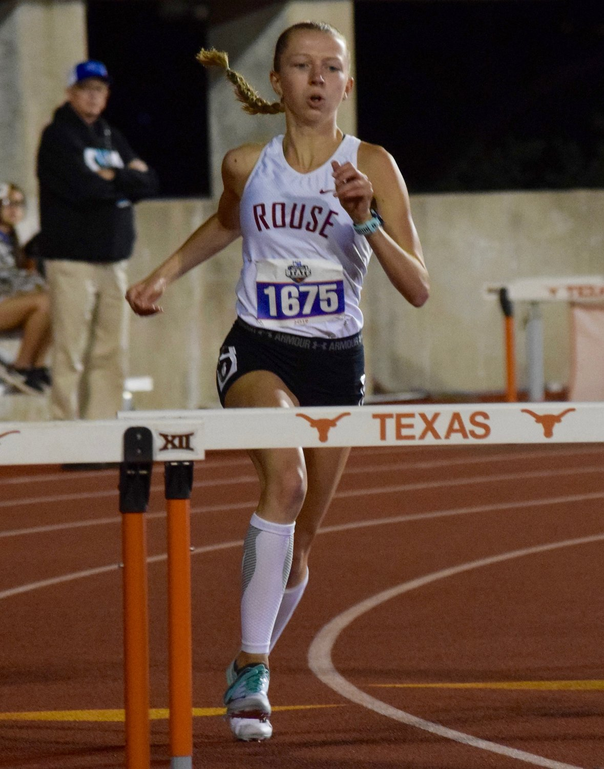 Rouse senior Abby Bendle finished third in the 5A girls' 300-meter hurdles at the UIL State Track and Field Meet on Friday.