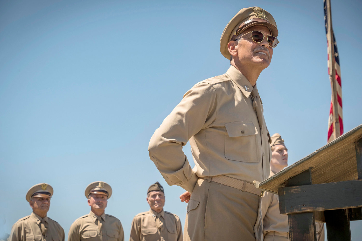 "George Clooney plays the training officer in charge of World War II bombardiers in Hulu's adaptation of Joseph Heller's novel, ""Catch-22,"" which begins streaming on Friday."