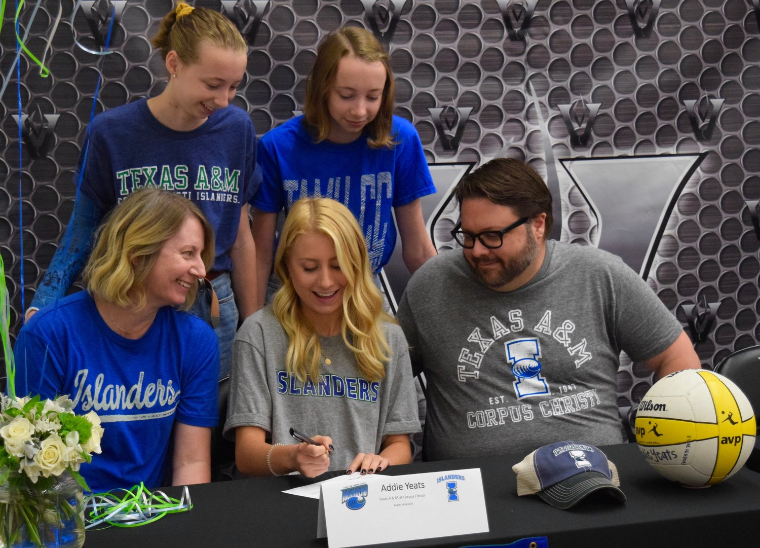 Addie Yeats signed to play beach volleyball at Texas A&M Corpus Christi at a ceremony Tuesday morning at Vandegrift High School.