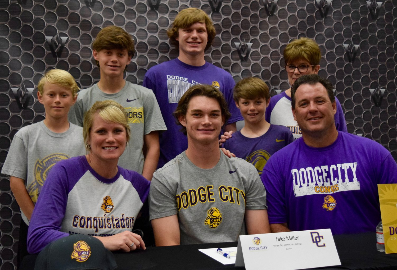 Jake Miller signed to play baseball at Dodge City Community College at a ceremony Tuesday morning at Vandegrift High School.
