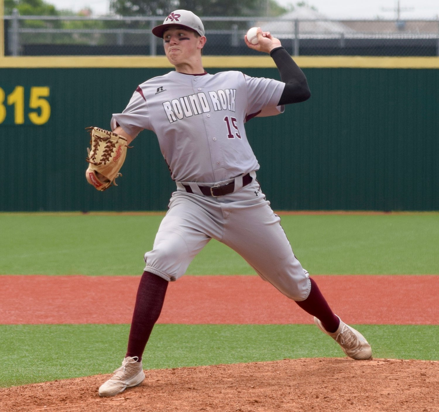 Jared McKenzie and Round Rock lost to top-ranked Cy Ranch Saturday afternoon in Mumford and were eliminated from the playoffs.