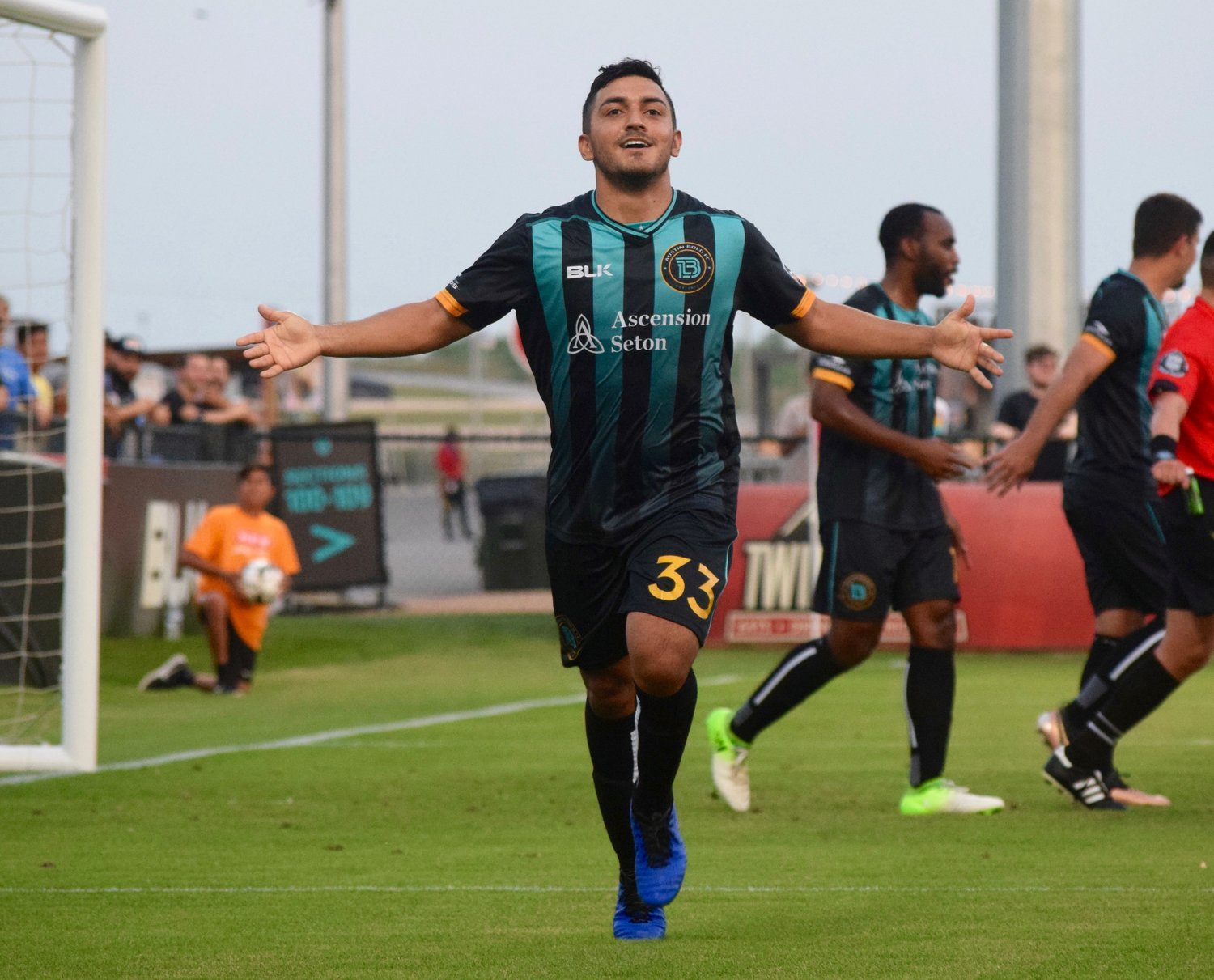 Sonny Guadarrama scored a goal and had two assists as Austin Bold FC beat San Antonio FC 4-2 on Wednesday night in the third round of the U.S. Open Cup.