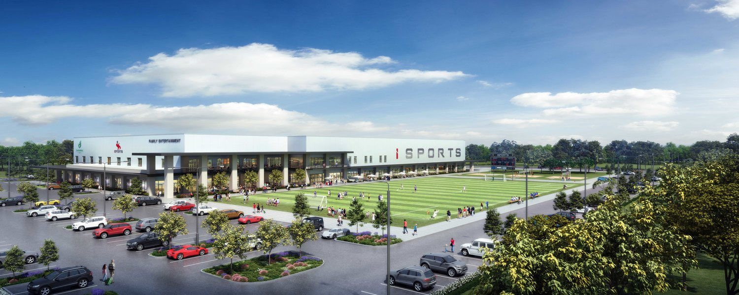 A rendering of the grounds of the iSports complex currently being built in Cedar Park.