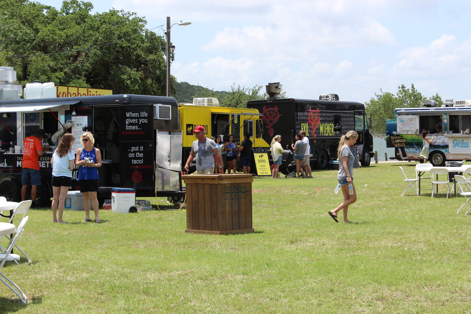 Food trucks line the park at LagoFest on June 16, 2019.