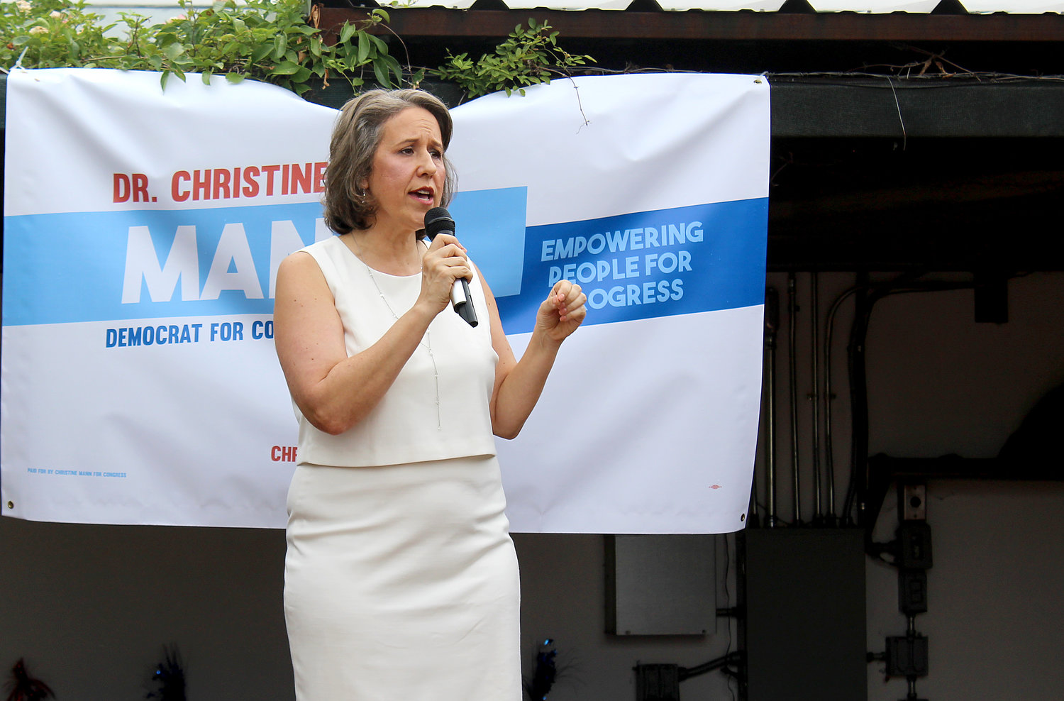 Dr. Christine Mann Saturday kicked off her campaign for the Democratic nomination to take on Republican incumbent Round Rock Congressman John Carter in the 2020 elections.