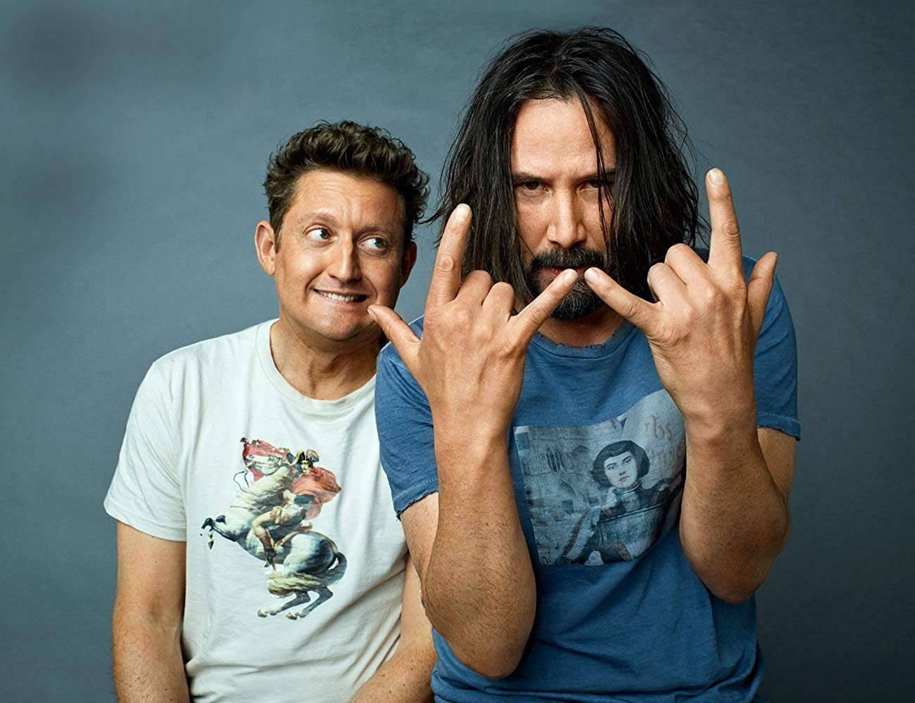 How bodacious: Keanu Reeves and Alex Winter start filming 'Bill