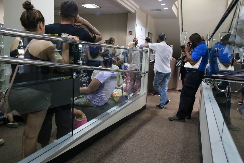 People wait at a driver license reclamation clinic in Austin on June 22, 2018. More than 600,000 Texans who lost their driver's licenses through the Driver Responsibility Program will be immediately eligible to have them reinstated on Sept. 1.