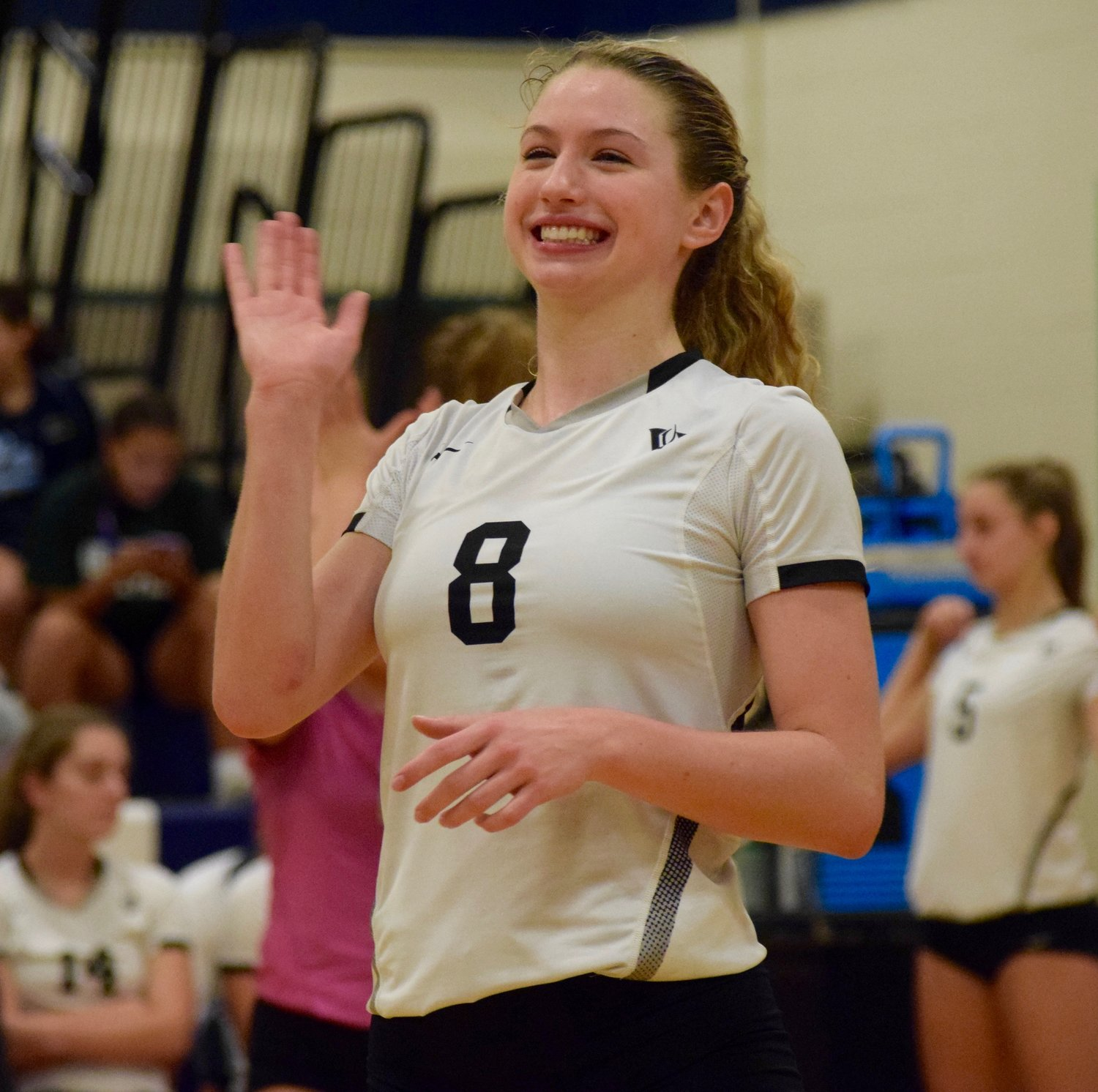 Senior Delaney Dilfer has 382 assists and is second with 18 blocks for Vandegrift this season, which won its first eight games in a row to start the year.