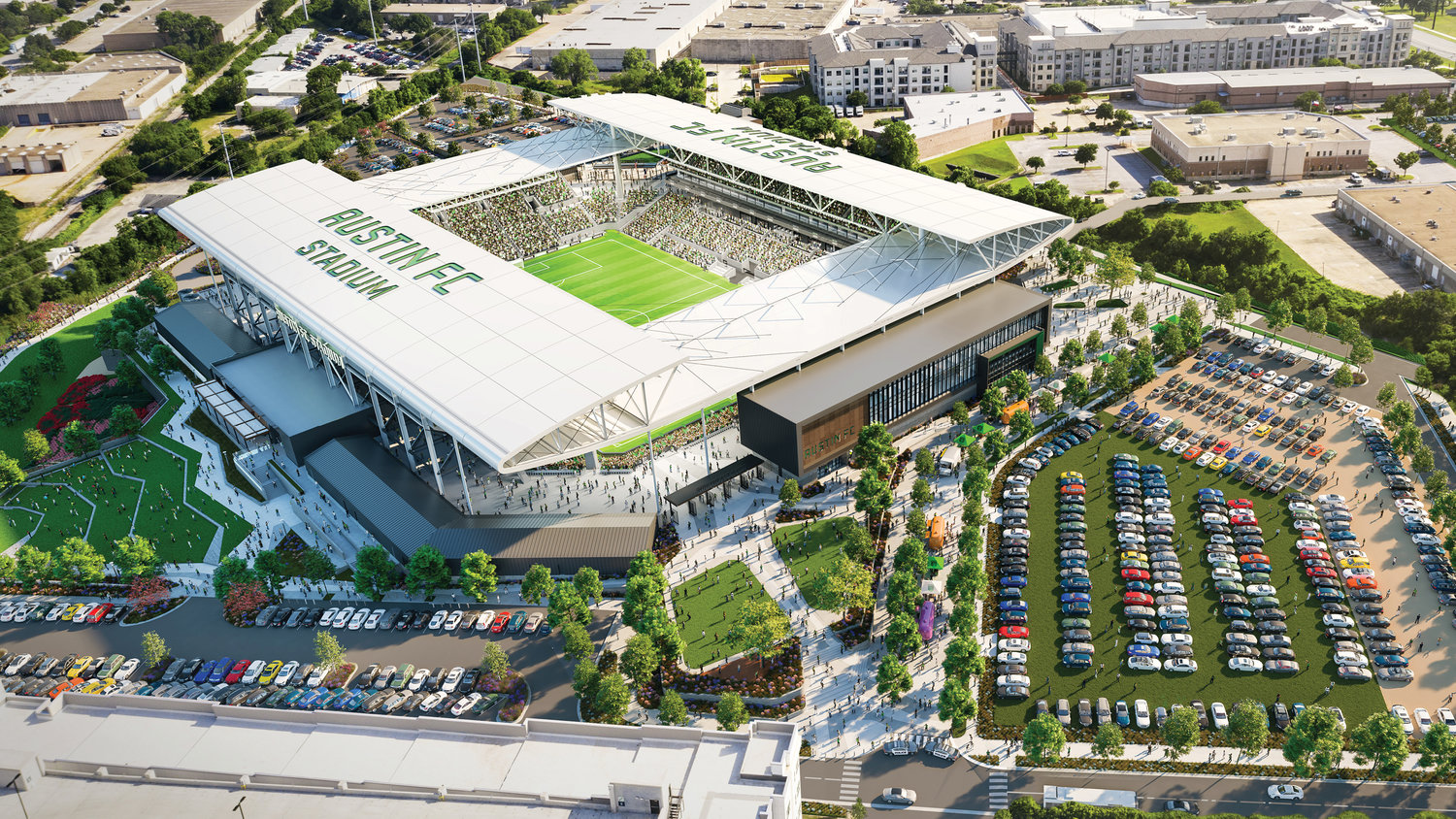 Austin FC will break ground on its new stadium at McKalla Place on Sept. 5, according to a presentation released by club officials on Wednesday.