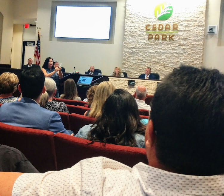 "Cedar Park resident Neitha Engert criticized one of Council member Rodney Robinson's board appointees Thursday over what she called ""bigoted memes."""