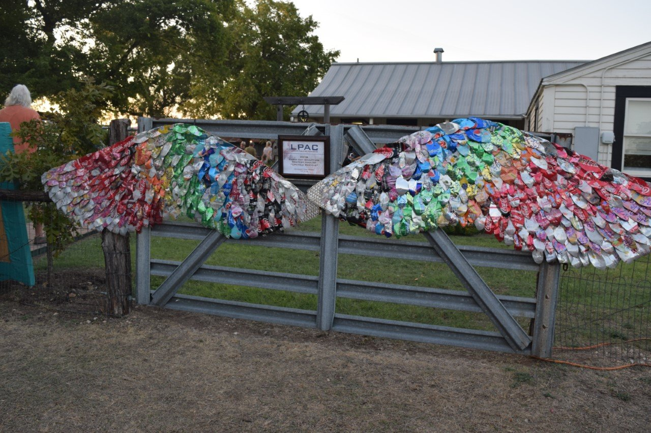 "The Leander Public Arts Board debuted the the ""Ariel"" sculpture over last weekend during the Leander Bluegrass Festival."