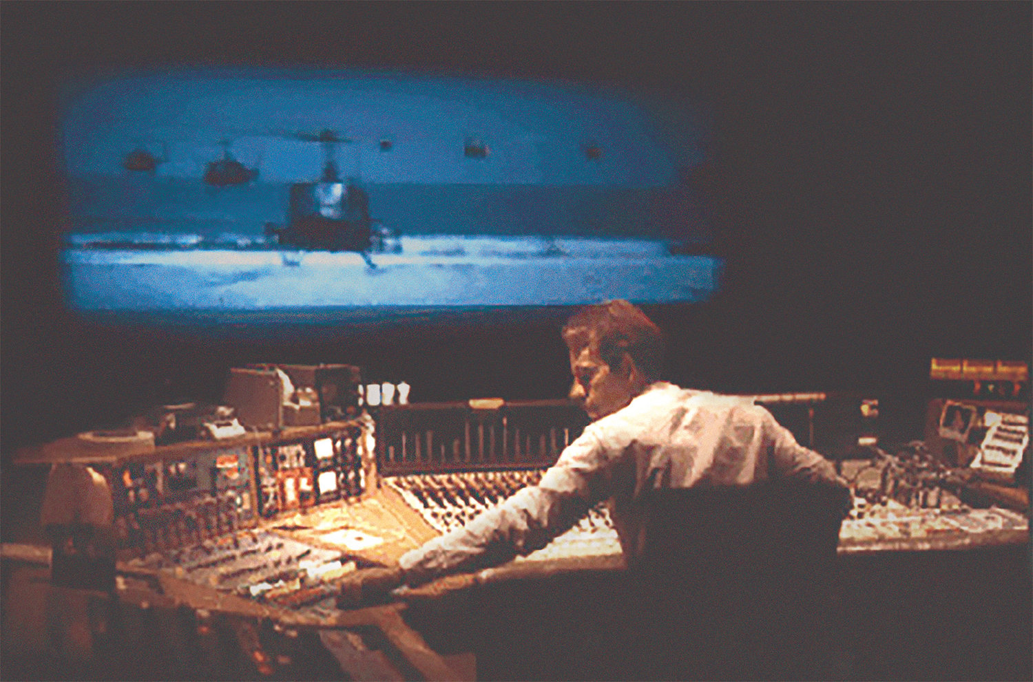 Walter Murch re-recording mixing Apocalypse Now 1979. (W.S. Murch/Tribeca Film Festival/TNS)