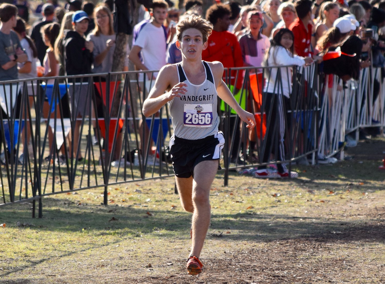 Vandegrift senior Anthony Monte set a new personal and school record at the state cross country meet Saturday in Round Rock and finished second overall in the 6A Boys race.