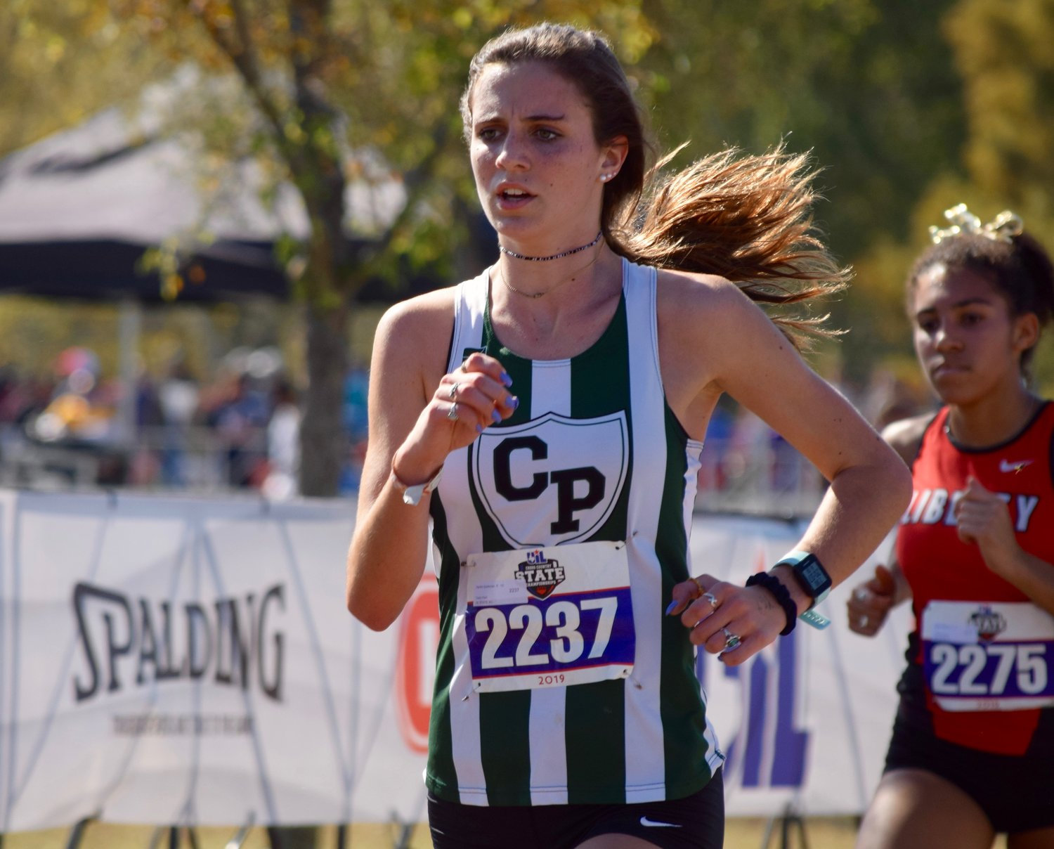 Cedar Park runner Xanthe Sparkman finished with a time of 20:09.38 at the state cross country meet Saturday at Old Settlers Park in Round Rock.