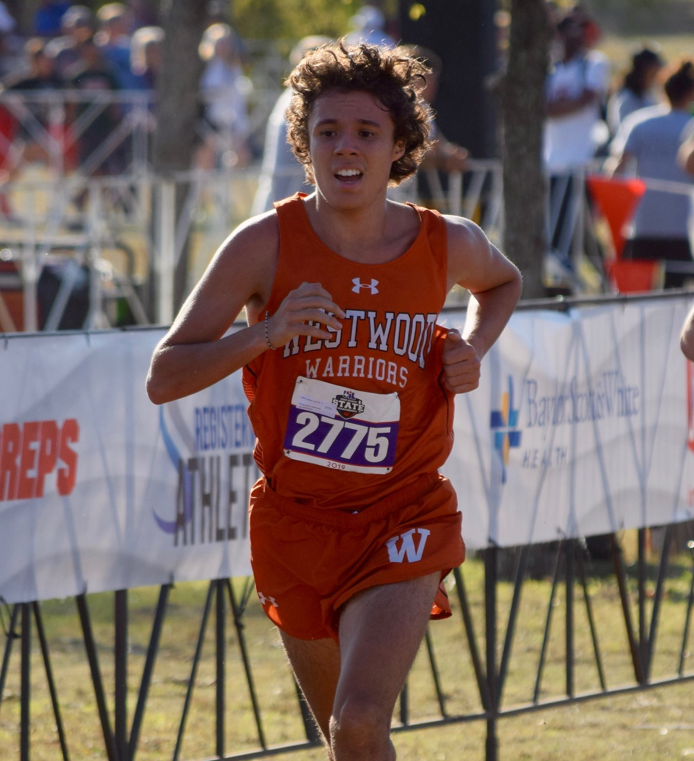 Westwood runner Pablo Lomeli Lluis finished with a time of 15:57.45 at the state cross country meet Saturday at Old Settlers Park in Round Rock.