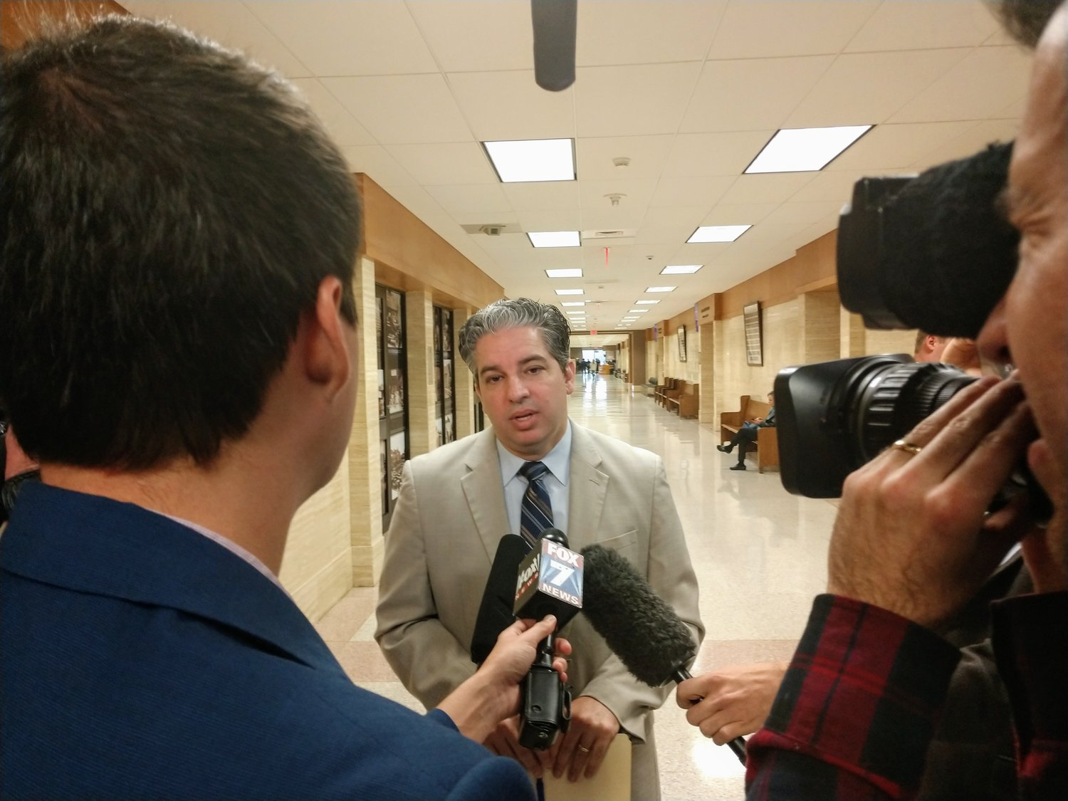 Williamson County District Attorney Shawn Dick addressed the media Wednesday morning following the official exoneration of former Leander High School football star Greg Kelley.