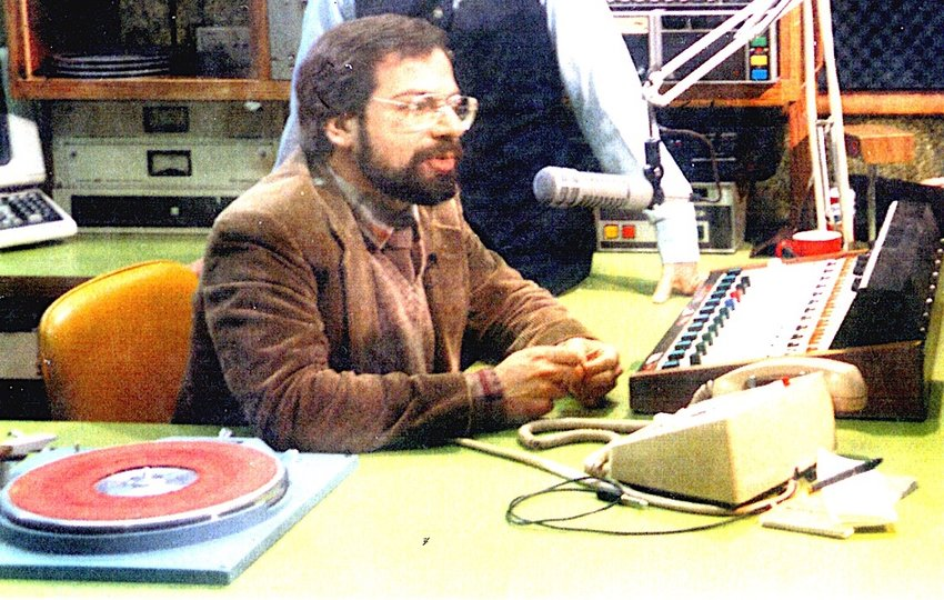 Mike Blinder as a DJ circa 1984