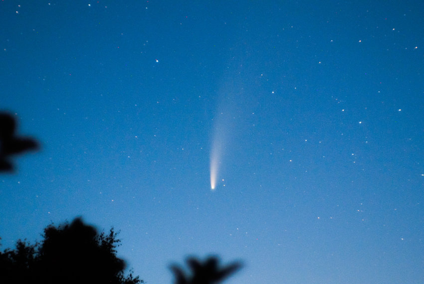 Comet NEOWISE seen from Chelyabinsk, Russia.
