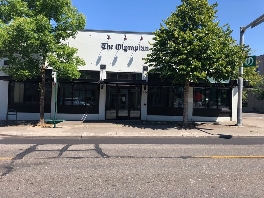 The now-empty Olympian building, where The Olympian set up shop after its owners sold their iconic building to Olympia School District for its new headquarters. In early 2020 the staff at the local daily moved operations again, to smaller offices a few blocks away in Olympia.
