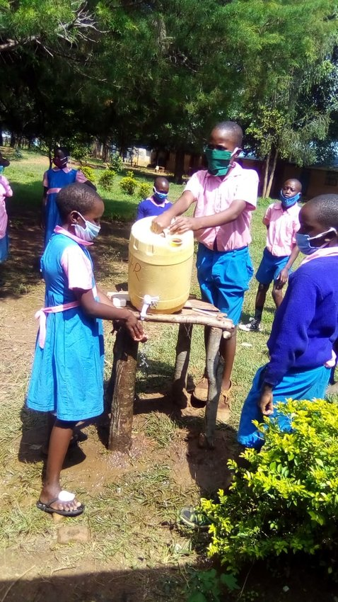 Children in Matsakha, Kenya are returning to school. Despite  the Covid-19 pandemic which is accelerating in Kenya, the schools do not have soap for the children to wash their hands.