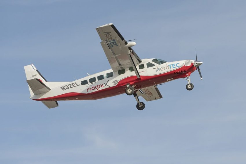 This Cessna Grand Caravan 208B was successfully test-flown on May 28, 2020 at Grant County International Airport (KMWH) in Moses Lake, Washington, according to AeroTEC, an independent aviation testing company.
